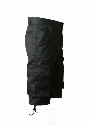 """Pantaloncini da uomo nera cotone cinque tasche Estate Pantaloncini Cargo da Passeggio 32/"""" 48/"""""""