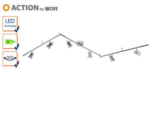 schwenkbar LED Deckenlampe // Strahler Chrom 6-flg Action by Wofi