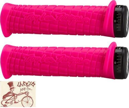 ODI TROY LEE LOCK-ON PINK BMX-MTB BICYCLE GRIPS