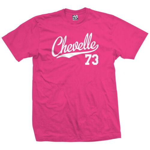 Chevelle 73 Script Tail Shirt 1973 Classic Muscle Race Car All Size /& Colors