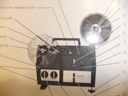 CD//Email Instructions cine movie projector HANIMEX Duorama-IQ