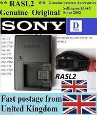 Genuine Original SONY Charger BC-CSD NP-BD1 NP-FR1 NP-FE1 DSC- P120 P150 P200