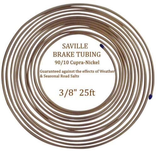 "Cupro Nickel Brake Pipe 90/% Copper 10/% Nickel Saville 3//8/"" x 25ft 7.62 mtrs"