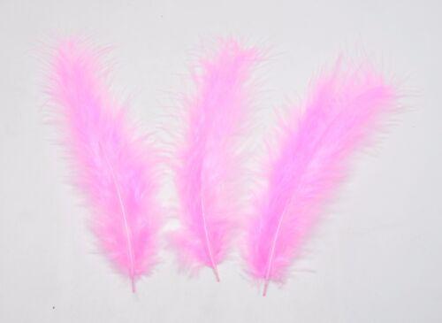 100 X plumas Esponjoso Marabú 10-15 Cm-Adornos elaboración de Tarjetas 10 Colores