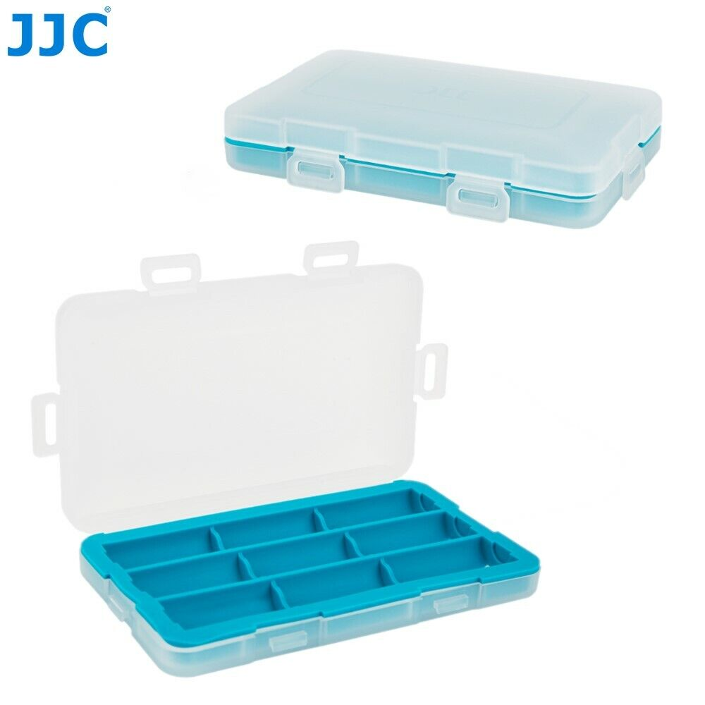 JJC 9 Slots Battery Case Box Storage for CR123 CR123A CR17345 16340 Battery