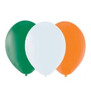 St Patrick Day Irish Green White Orange Party Decoration Balloons Accessory