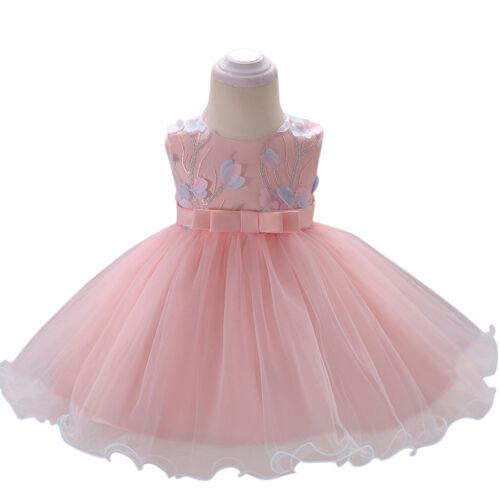 Flower Girls Princess Tutu Dress Wedding Party Birthday Dresses for Toddler Baby