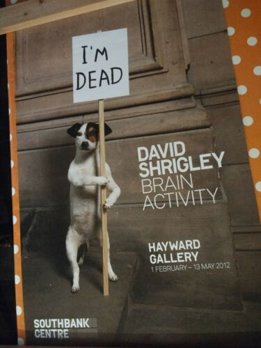 /'Brain Activity/' exhibition poster 2012. DAVID SHRIGLEY Hayward gallery