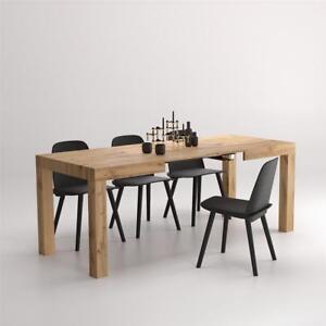 Detalles de Mobili Fiver, Mesa de cocina extensible, modelo First, color  Madera Rustica