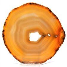große Achatscheibe reine Natur A - Qualität poliert Ø 142 mm Achat Scheibe  GD