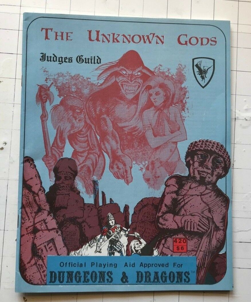 The Unknown Dèi Judges Guild Modulo D&d Rpg Gioco Integratore 420 1980 Libro