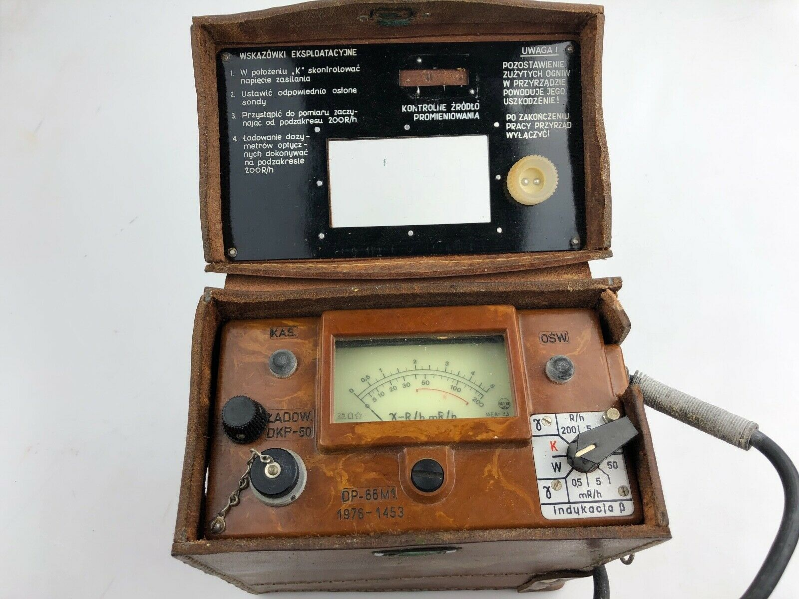 s l1600 - DP66 MILITARY RADIATION DETECTOR GEIGER COUNTER WITH CASE VINTAGE