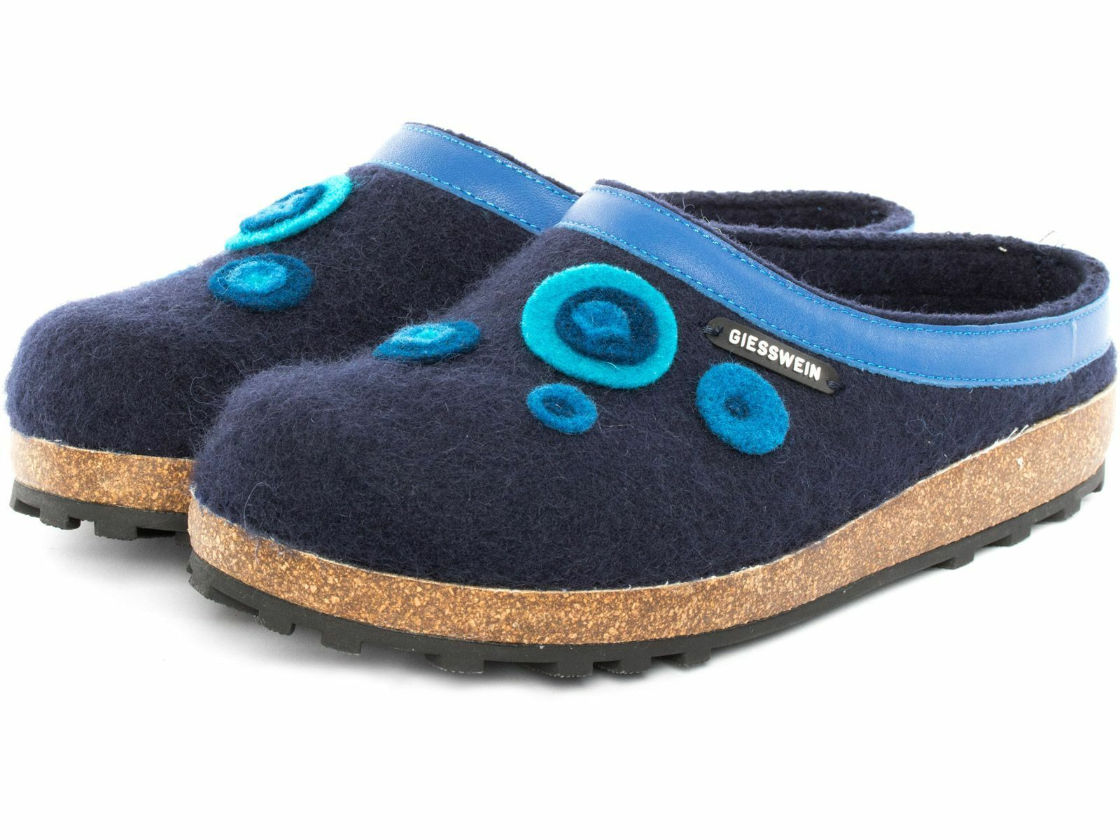 Giesswein Calau Blu Ciabatte Slipper Pantofole 36 - 42 Slipper Ciabatte PER INTERNO + ESTERNO 3e35b9