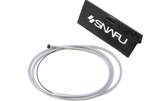 """Snafu BMX Astroglide Cavo Freno Dritto Lungo 48/"""" in acciaio inox di qualità chiaro"""