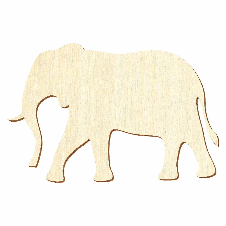 Holz Elefant - 3-50cm Breite - Basteln Deko