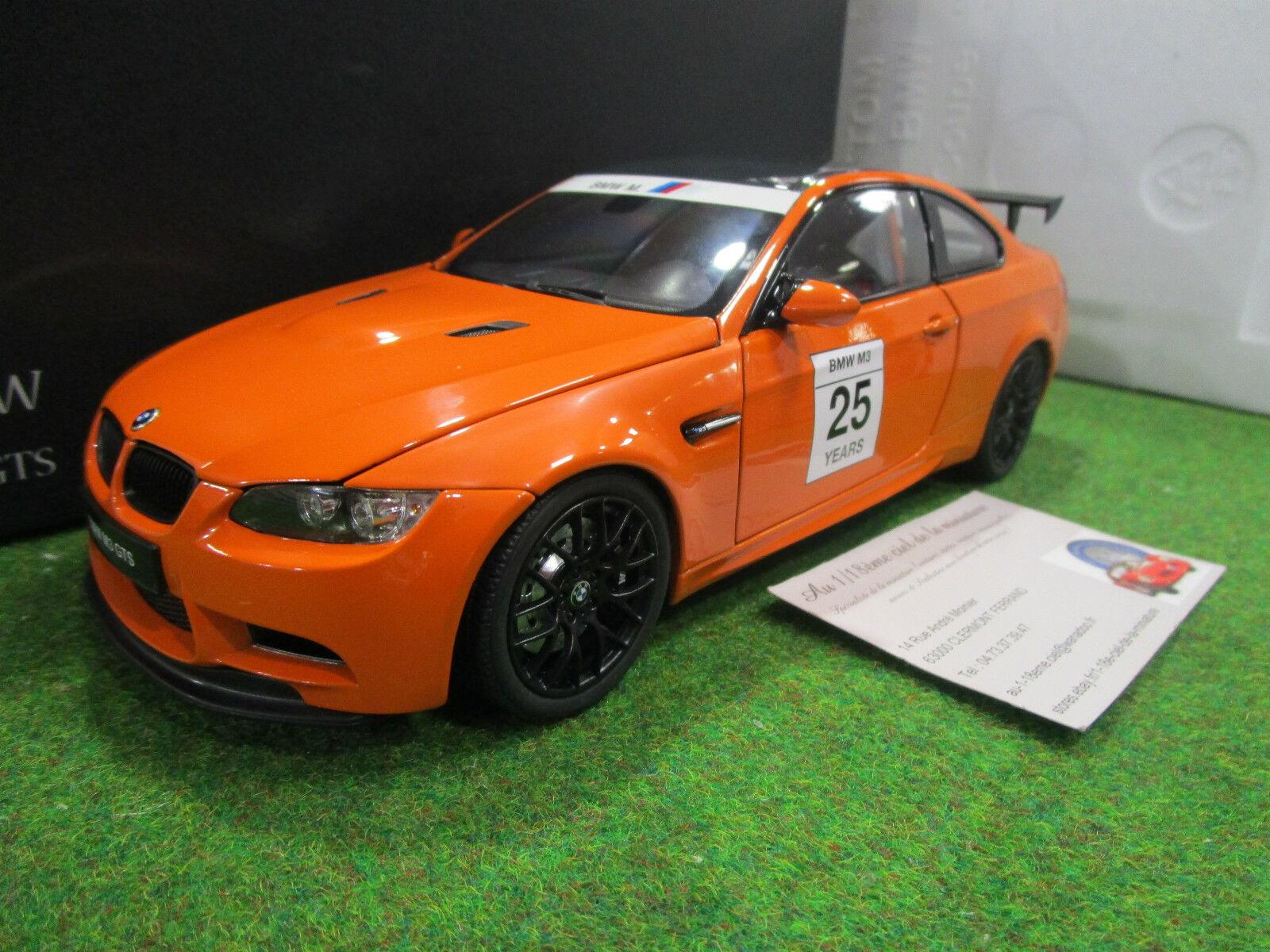 BMW M3 GTS  COUPE   25 Orange au 1 18 KYOSHO 08739PM voiture miniature collection  font des activités d'escompte