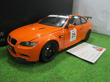 BMW M3 GTS COUPE # 25 orange au 1/18 KYOSHO 08739PM voiture miniature collection