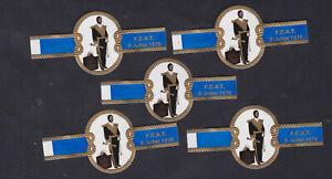 5 Ancienne Bague de Cigare  Vitola BN120757 France F.C.A.T. Homme 1976