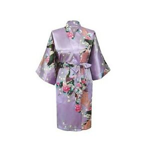 Image Is Loading Lavender BathRobe Wedding Bridesmaid Robe Kimono Nightwear Sleepwear