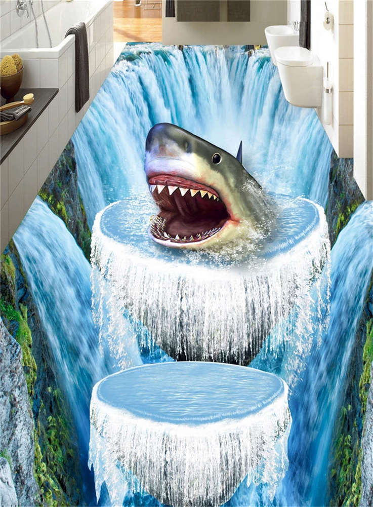 Insidious Vital Whale 3D Floor Mural Photo Flooring Wallpaper Home Print Decor