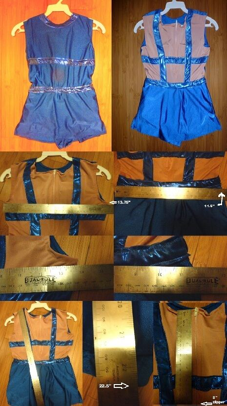 Ice or Roller Skating Dance Baton Dress royal bluee  sleeveless Girls 8 10  store sale outlet