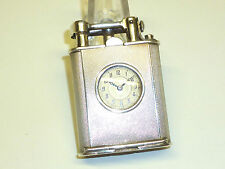 SARASTRO ART DECO SOLID SILVER WATCH LIGHTER (ADOLF KINZINGER) - 1920 -GERMANY