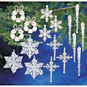 Details About Holiday Beaded Ornament Kit Crystal Collection Christmas Ornaments Makes 95