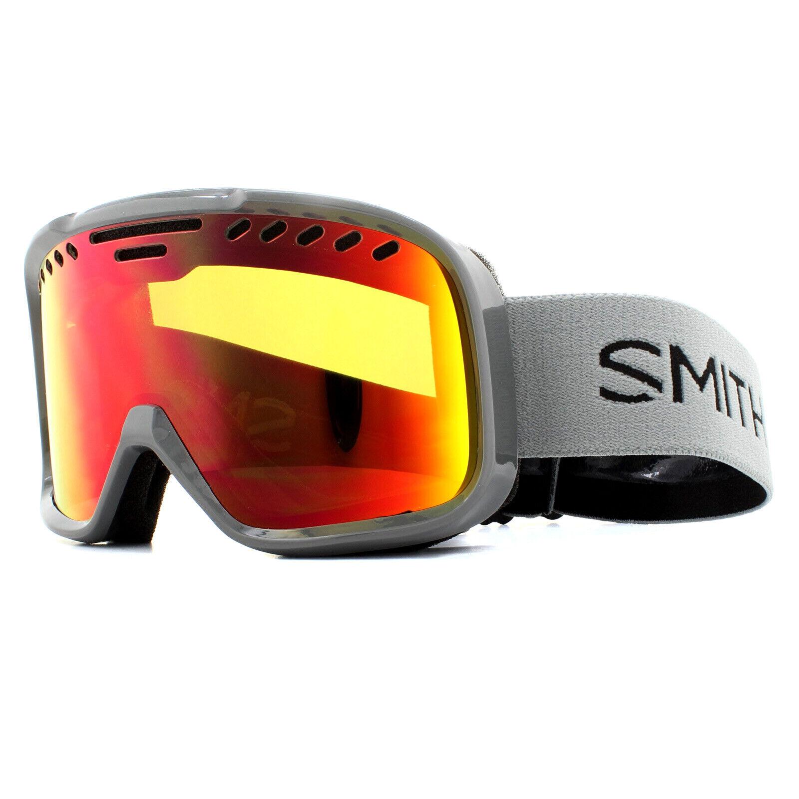 Smith Skibrille Projekt M00682ZX299C1 Dunkelgrau Rot Sol-X Spiegel
