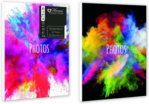 "Paint Splash TEAJ Twin Pack Mini Pocket Photo Albums 4/""x6/"" 24 Photos each"