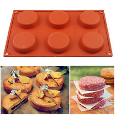 6 Cavity Mini Pie Custard Tart Resin Coaster Mold Cake Pan Bakeware Soap Mould