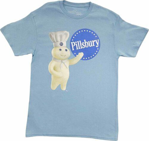 Men/'s Pillsbury Doughboy Blue Retro Vintage Graphic T-Shirt 80s 90s Tee New