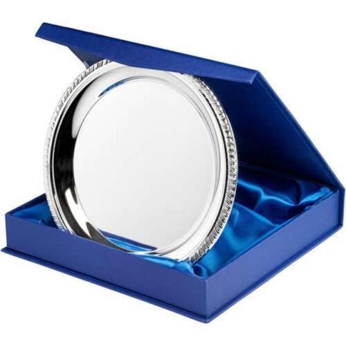 supporto o box Presentazione SALVER D/'argento Placcata in 4 dimensioni INCISIONE GRATUITA