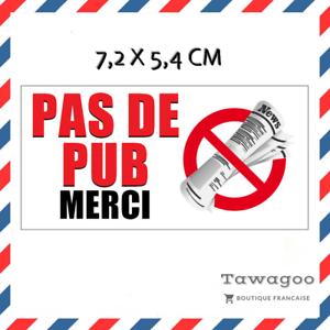 1-Sticker-Autocollant-STOP-PAS-DE-PUB-STOP-PUB-MERCI-boite-aux-lettres