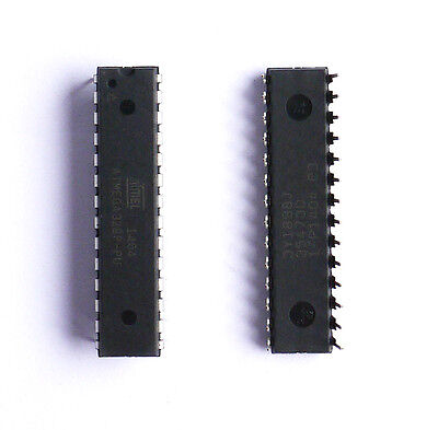 1Pcs New ATMEGA328P-PU Microcontrolle?r AVR 32K FLASH 8 DIP-28 High Quality hOT