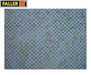 Faller-H0-170625-Mauerplatte-034-Rasengittersteine-034-1m-57-28-NEU