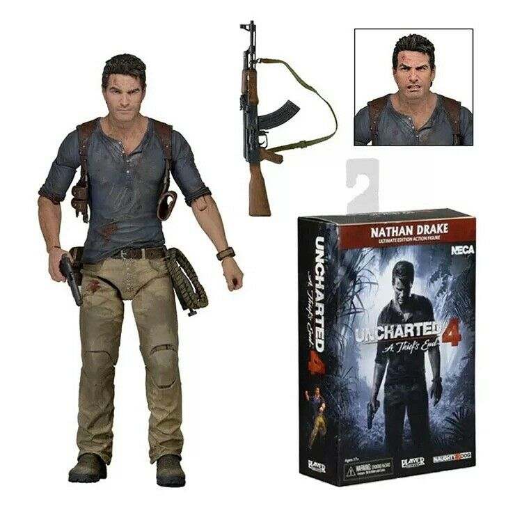 NECA UNCHARTERED 4 - ULTIMATE NATHAN DRAKE 7  ACTION FIGURE STATUE FIGURINES TOY