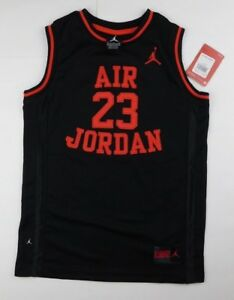 444ed7e7840f NewBig Boys Nike Air Jordan 23 Jersey Style Muscle Tee Shirt Black ...