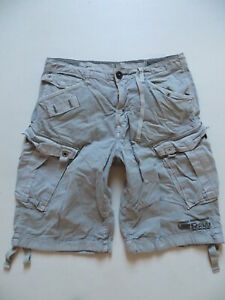 G-Star Herren Cargo Shorts, W 34, grau, Vintage Bermuda, Kurze Cargohose, KULT !