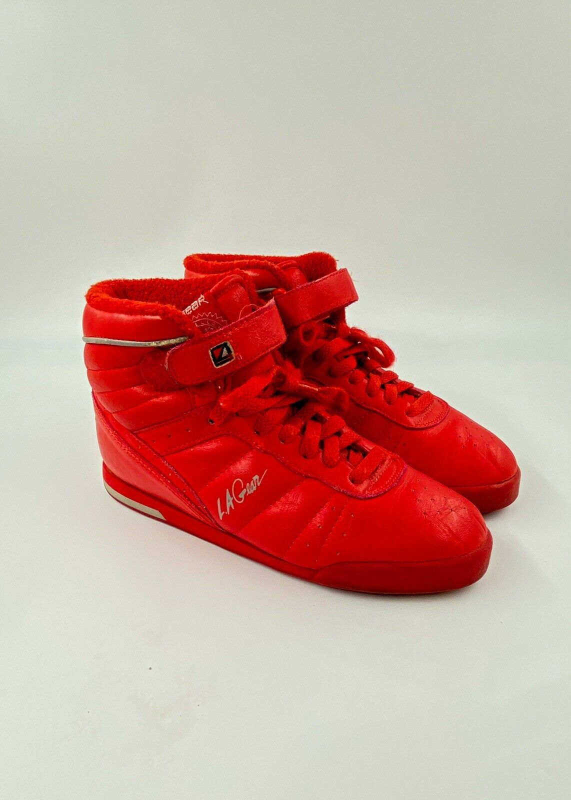 L.A. Gear 6.5 Vintage 80s Red Sneakers 90s Tennis… - image 3