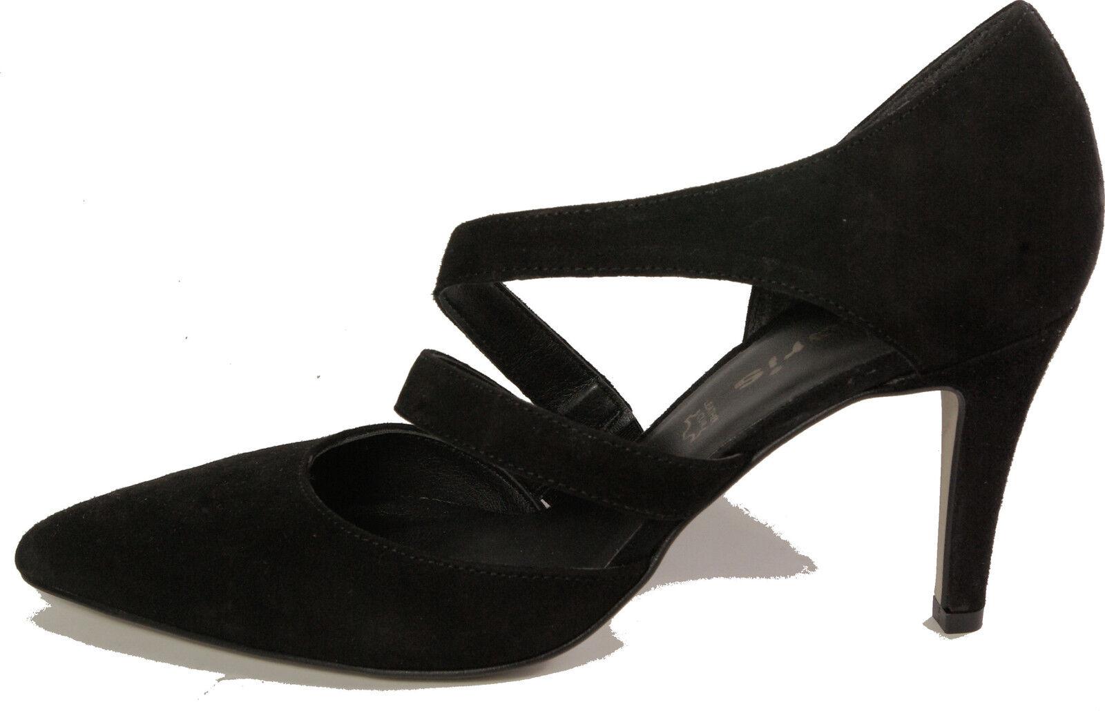 TAMARIS Schuhe Pumps schwarz Velour high heels heels high Pfennigabsatz echt Leder NEU 7b68b7