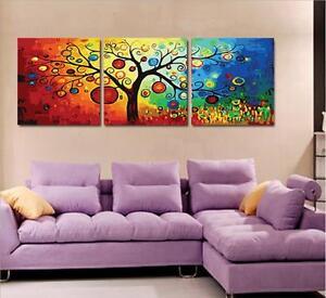 Details Zu 50x50cm Triptychon Malen Nach Zahlen Diy Magischer Baum Malerei Dekor Rahmenlos