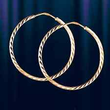 Russische Rose Rotgold 585  Kreolen Kongo HOOP Ohrringe Earrings rose gold 22mm