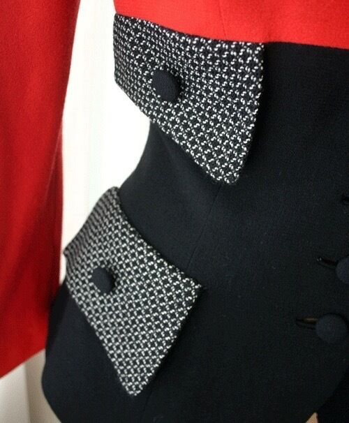 YT TRAVILLA Three Tone Fitted Jacket 80s - image 3