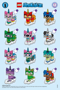 Minifigure Series 41775 Checklist LEAFLET ONLY *multi buy offer!* LEGO Unikitty