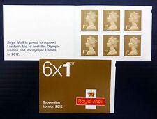 GB 2004 MACHIN 1st x 6 Supporting London Olympics Booklet SGMB7 Cat £10 BIN1664