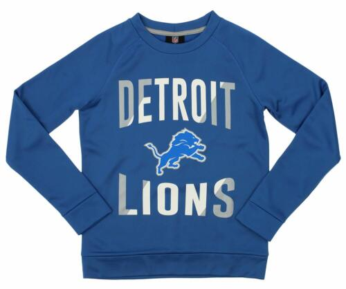 Outerstuff NFL Youth//Kids Detriot Lions Performance Fleece Crew Neck Sweatshirt