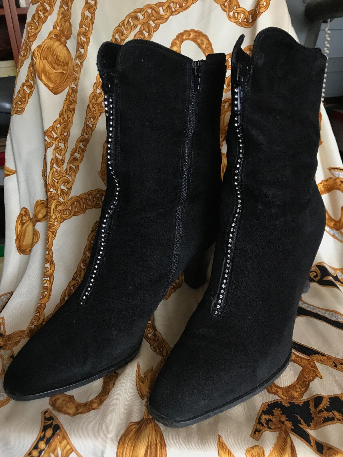 CAVALLI Stiefelette  Ankle Stiefel  Gr. 38,5 Schwarz Wildleder  Vintage
