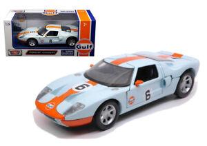 Ford-GT-del-Golfo-librea-Diecast-Escala-1-24-Coche-de-Juguete-Modelo-Die-Cast-Racing