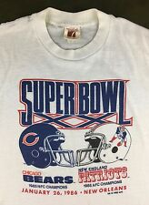 True Vintage 1985 Super Bowl 20 Chicago Bears Patriots NFL Football T-Shirt S/M