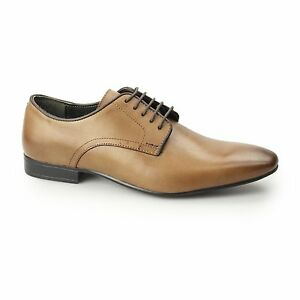 Mens punta London Derby Baker Silver unita scarpe Street pelle tinta in con Tan formale qFnqtfPwx